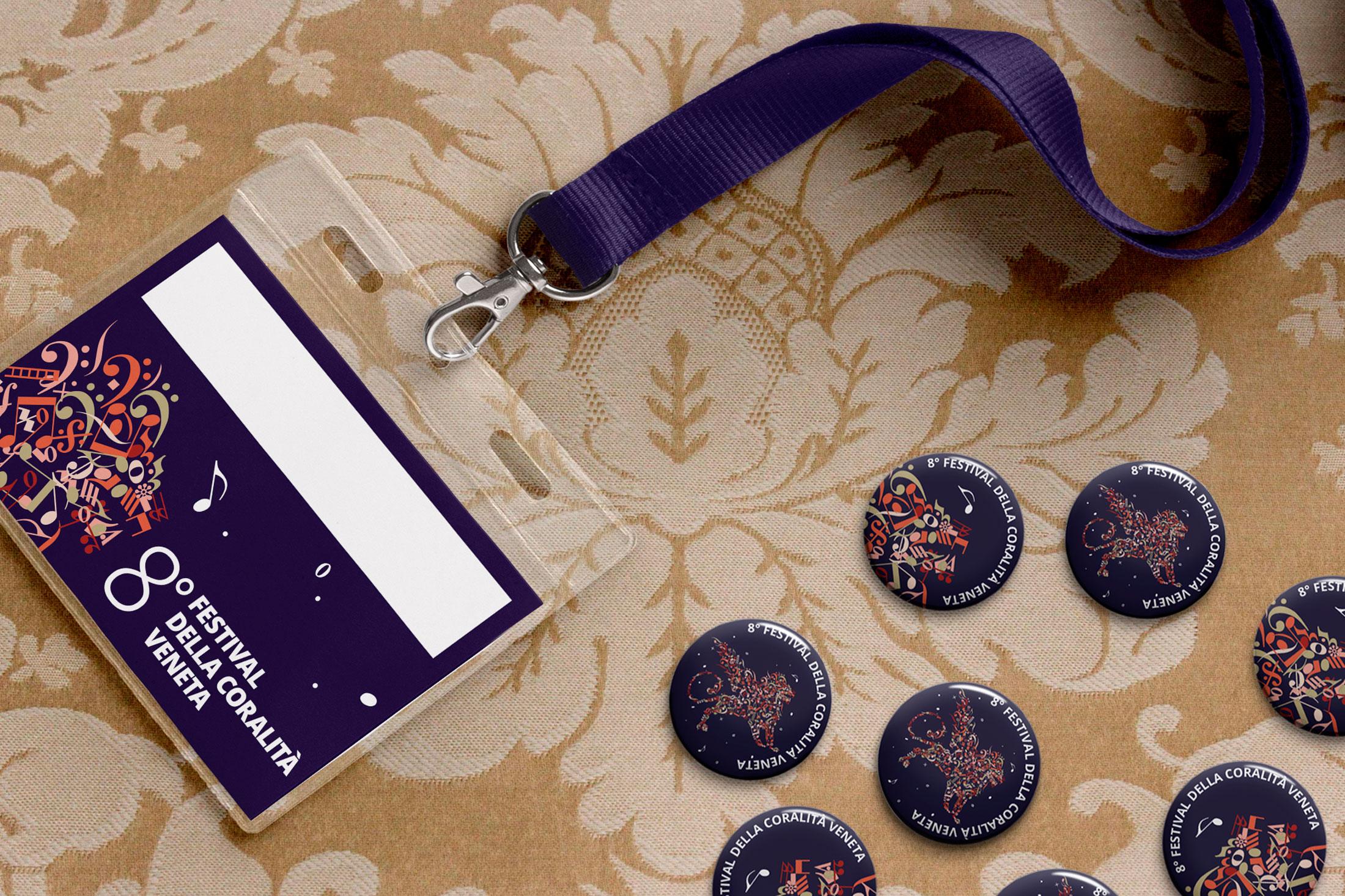 Festival della Coralità Veneta - badge, spille