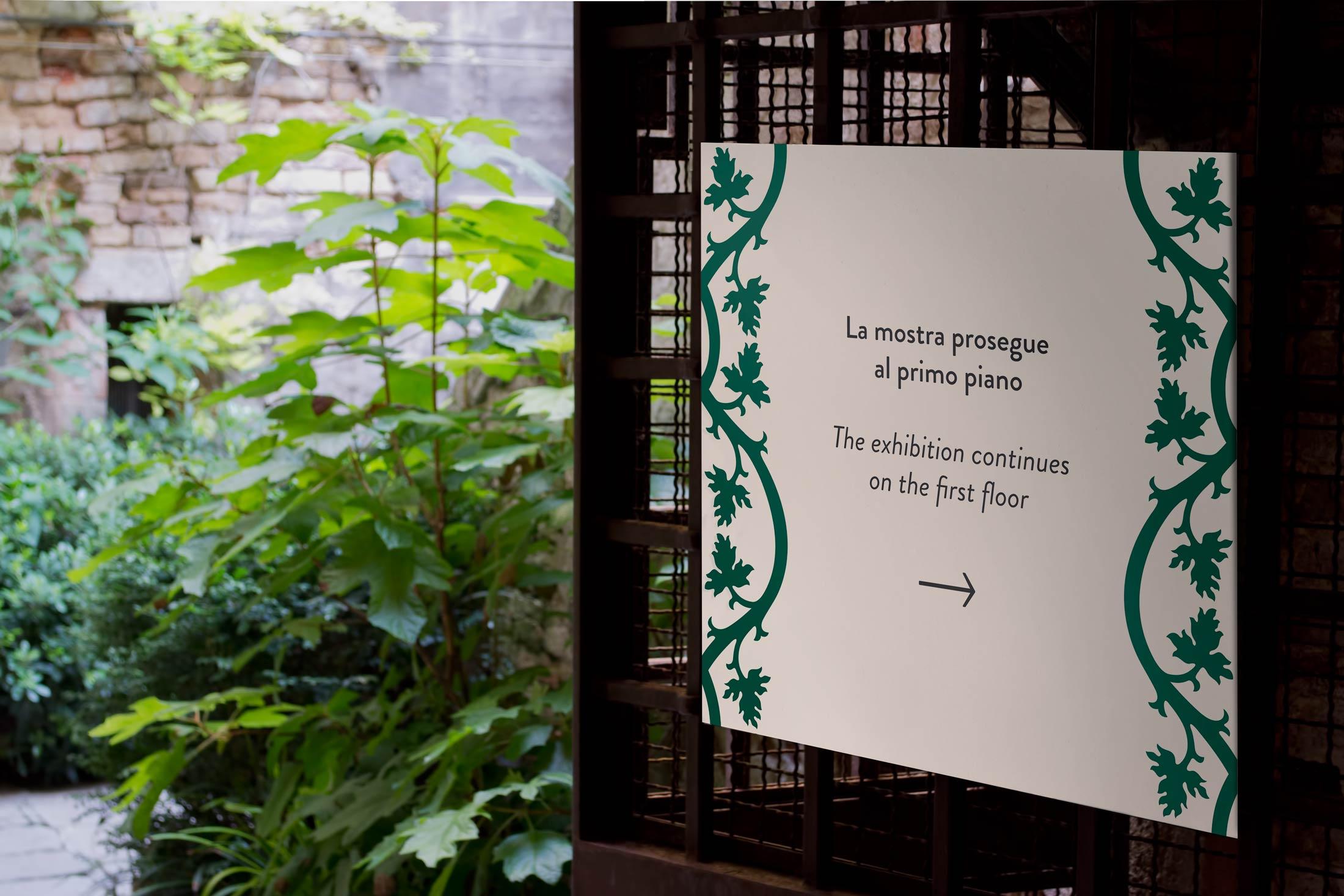 Primavera a Palazzo Fortuny - segnaletica 1