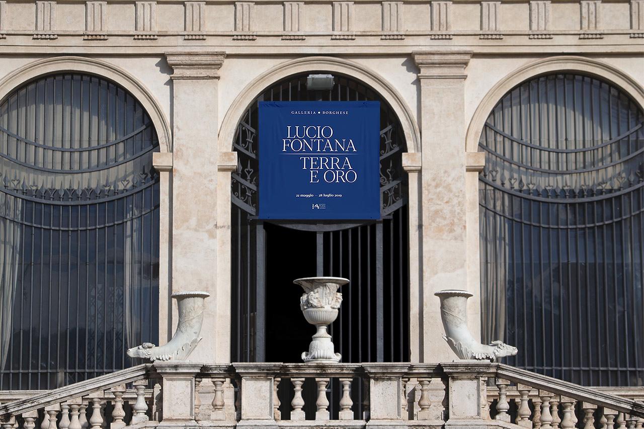 Lucio Fontana. Terra e oro - banner