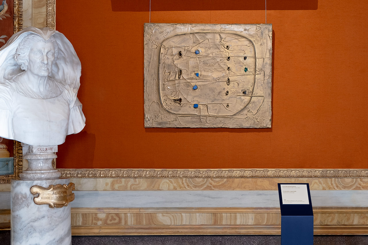 Lucio Fontana. Terra e oro - sala didascalie