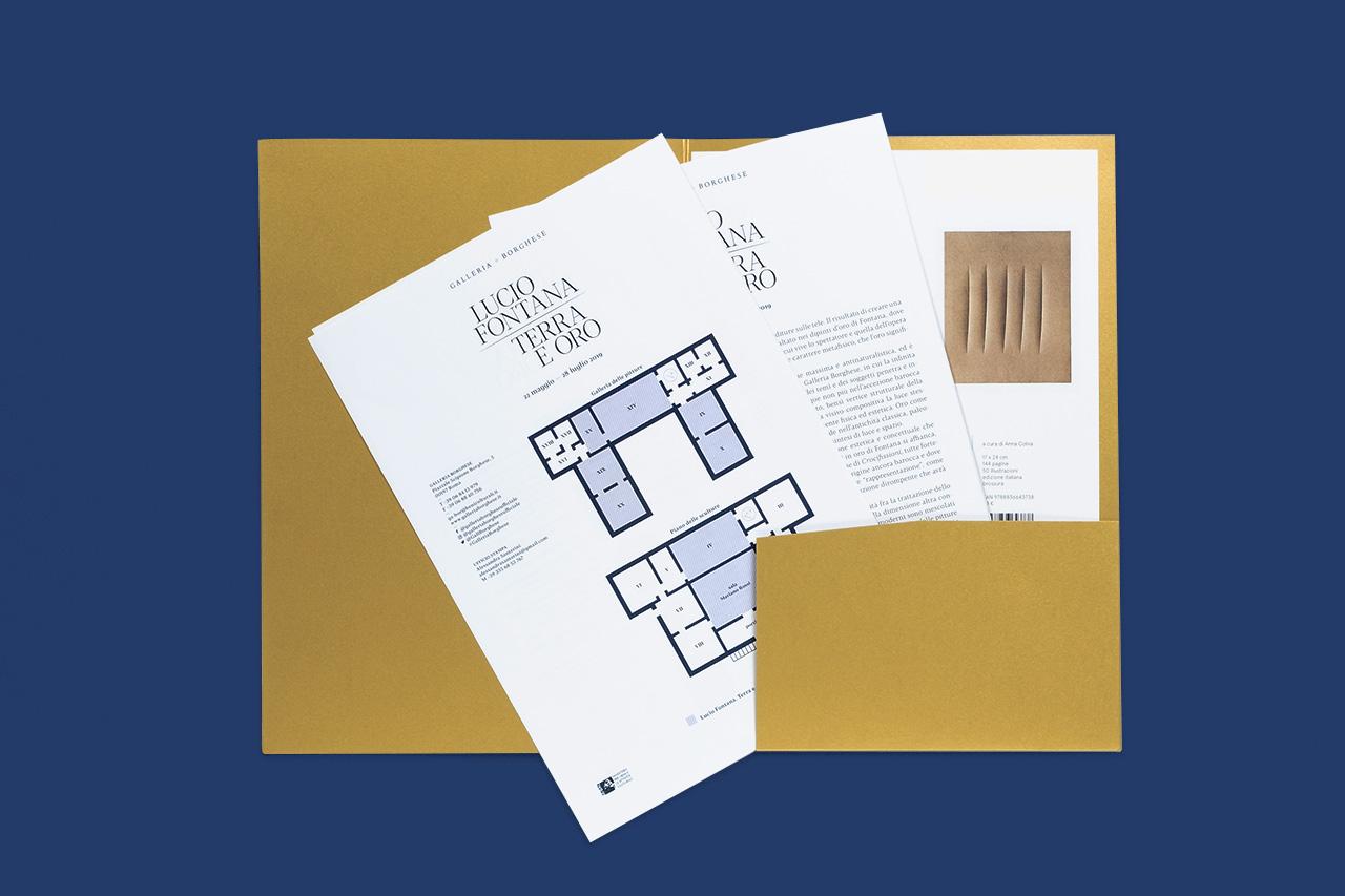 Lucio Fontana. Terra e oro - cartella stampa
