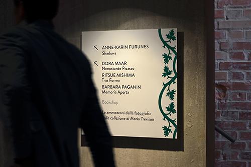 Primavera a Palazzo Fortuny - segnaletica